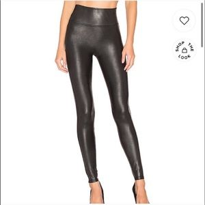 NEW Spanx faux leather leggings large